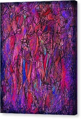 Alone In A Crowd Canvas Print by Rachel Christine Nowicki
