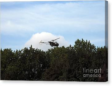 Alouette II Of The Belgian Army Canvas Print by Luc De Jaeger
