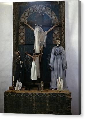 Altar In The Church, Trampas, New Canvas Print by Everett