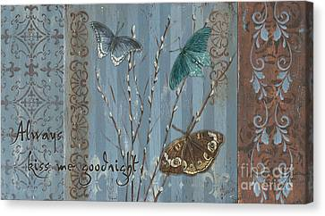 Always Kiss Me Goodnight Canvas Print by Debbie DeWitt