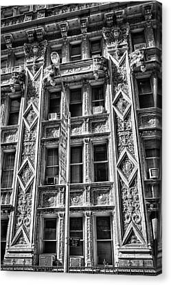 Alwyn Court Building Detail 15 Canvas Print by Val Black Russian Tourchin