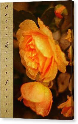 Amber Queen Rose Canvas Print by Jenny Rainbow