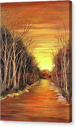 Amber River Canvas Print by Vic  Mastis