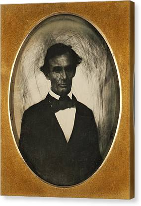Ambrotype Of Abraham Lincoln, Taken Canvas Print by Everett