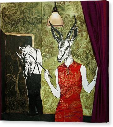 Ambushed Canvas Print by Stephanie Heendrickxen