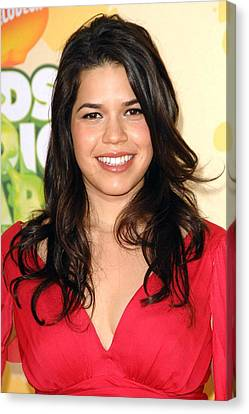 America Ferrera At Arrivals Canvas Print by Everett