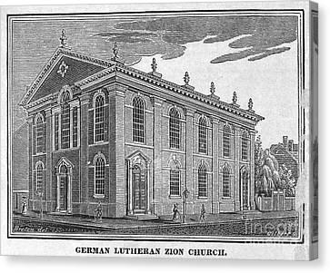 America: Lutheran Church Canvas Print by Granger