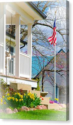 America The Beautiful In Spring Canvas Print by Christine Belt