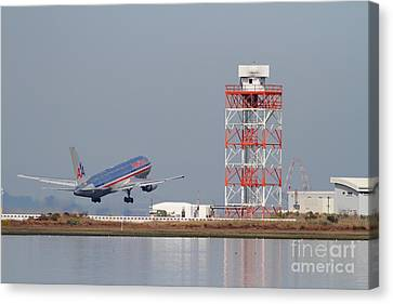 American Airlines Jet Airplane At San Francisco International Airport Sfo . 7d12073 Canvas Print by Wingsdomain Art and Photography