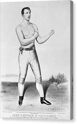 American Boxer, 1860 Canvas Print by Granger