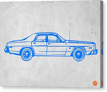 American Car Canvas Print by Naxart Studio