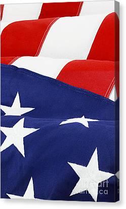 American Flag Canvas Print by Stephanie Frey