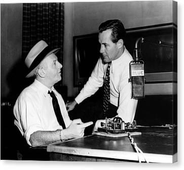 American Radio Commentators Walter Canvas Print by Everett