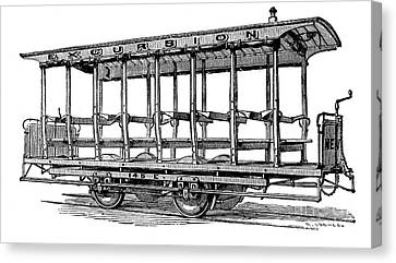 American: Streetcar, 1880s Canvas Print by Granger