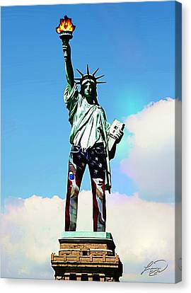 American Style Canvas Print by ABA Studio Designs