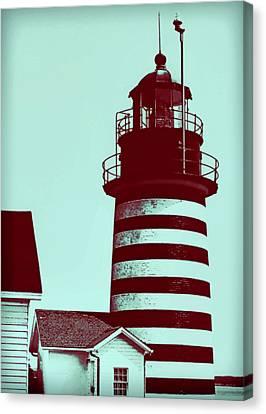 Americana Lighthouse Canvas Print by Tony Grider