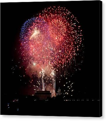 America's Celebration Canvas Print by David Hahn