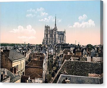 Amiens - France - View From The Belfrey Canvas Print by International  Images