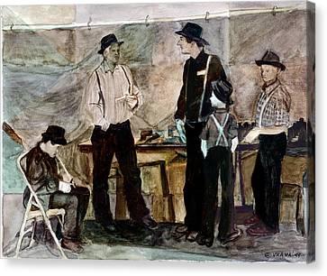 Amish Market Canvas Print by Ethel Vrana
