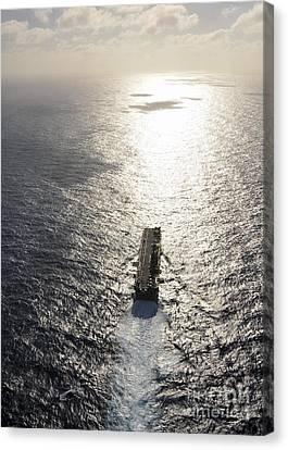 Amphibious Assault Ship Uss Boxer Canvas Print by Stocktrek Images