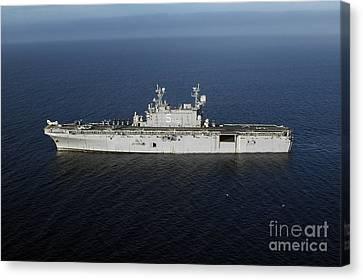 Amphibious Assault Ship Uss Peleliu Canvas Print by Stocktrek Images