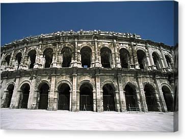 Amphitheatre Exterior Canvas Print by Axiom Photographic