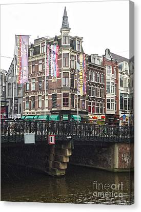 Amsterdam Canal Bridge - 04 Canvas Print by Gregory Dyer