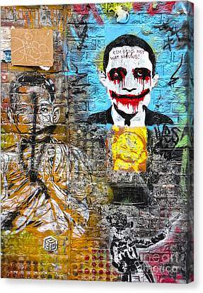 Amsterdam Obama Graffiti Canvas Print by Gregory Dyer