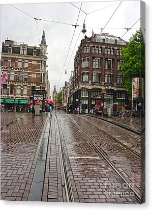 Amsterdam Rainy Day Canvas Print by Gregory Dyer