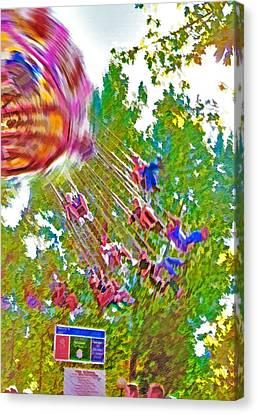 Amusement Park Ride 2 Canvas Print by Steve Ohlsen