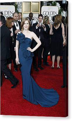 Amy Adams Wearing A Marchesa Gown Canvas Print by Everett