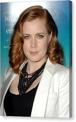 Amy Adams Wearing A Tom Binns Necklace Canvas Print by Everett