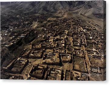 An Aerial View Over Afghanistan Canvas Print by Stocktrek Images