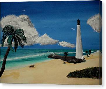 An Afternoon By The Lighthouse Canvas Print by Spencer Hudon II