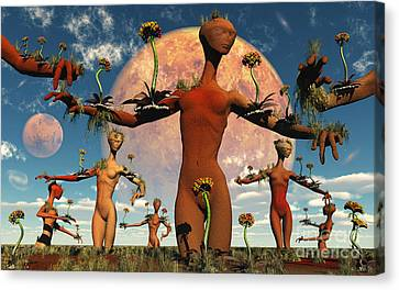 An Alien Society At One With Itself Canvas Print by Mark Stevenson