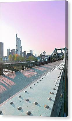 An Evening In Frankfurt. Canvas Print by Ixefra
