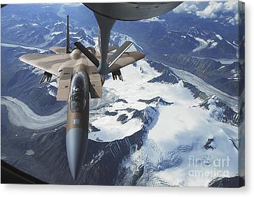 An F-15c Eagle Aircraft Sits Canvas Print by Stocktrek Images