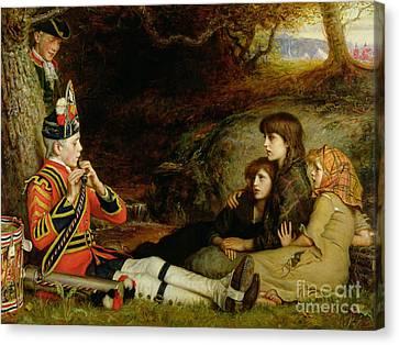 An Idyll  Canvas Print by Sir John Everett Millais