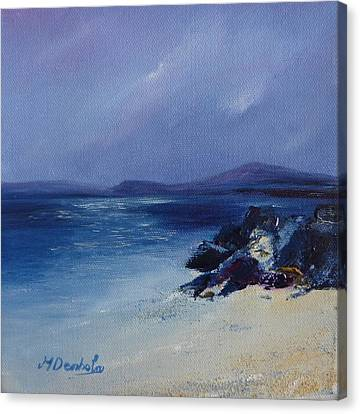 An Iona Beach Canvas Print by Margaret Denholm