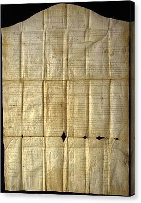 An Original Copy Of The Canandaigua Canvas Print by Joseph D. Lavenburg