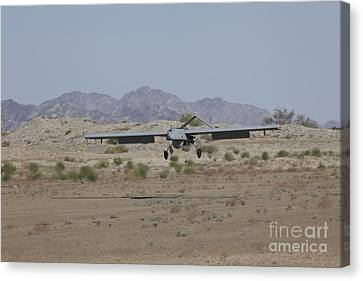 An Rq-7b Shadow Unmanned Aerial Vehicle Canvas Print by Stocktrek Images