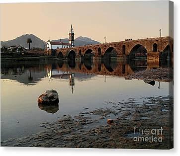 Ancient Bridge Canvas Print by Carlos Caetano
