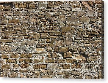 Ancient Stone Wall Background Canvas Print by Kiril Stanchev