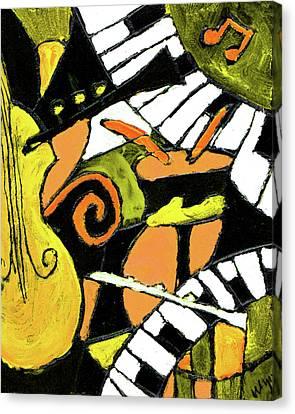 And All That Jazz Orange Canvas Print by Wayne Potrafka
