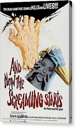 And Now The Screaming Starts, Pictured Canvas Print by Everett