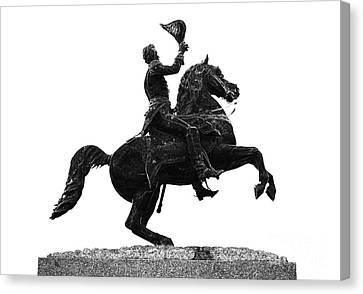 Andrew Jackson Statue Jackson Square French Quarter New Orleans Glowing Edges Digital Art Canvas Print by Shawn O'Brien