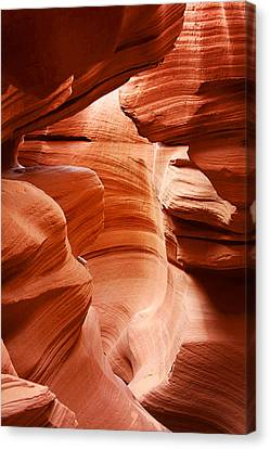 Anelope Canyon - What A Wonderful World Canvas Print by Christine Till