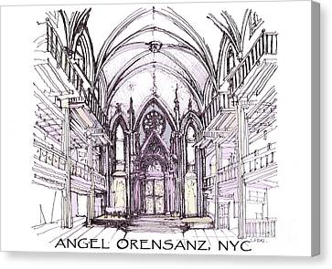 Angel Orensanz Ink  Canvas Print by Building  Art