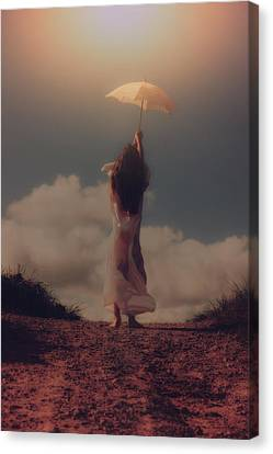 Angel With Parasol Canvas Print by Joana Kruse