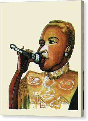 Angelique Kidjo Canvas Print by Emmanuel Baliyanga